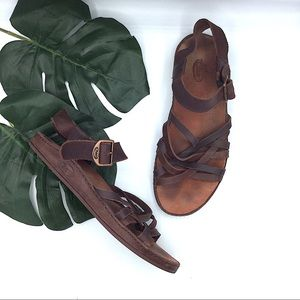 Chaco Brown Leather Java Strappy Sandals 7